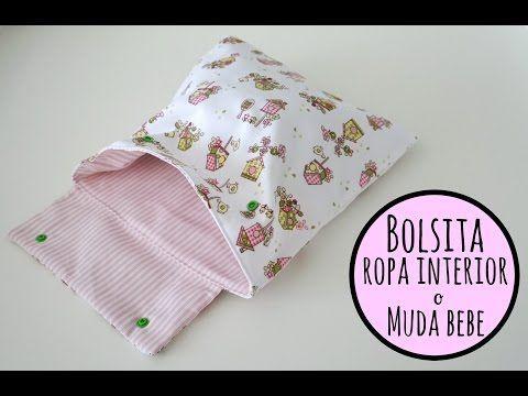 Tutorial DIY para hacer una bolsa para la ropa interior o la muda de bebe I Pinafili films - YouTube