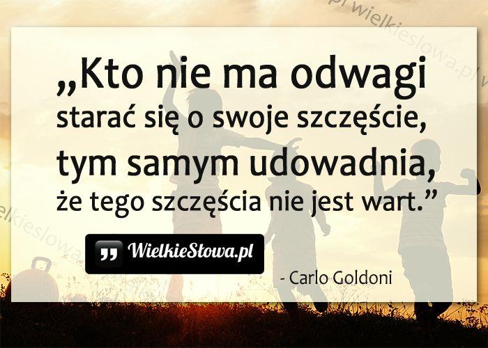 Kto nie ma odwagi... #Goldoni-Carlo,  #Odwaga, #Szczęście