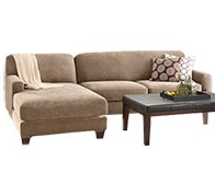 Sure Fit - Stretch Pique Two Seat with Chaise Sectional Covers