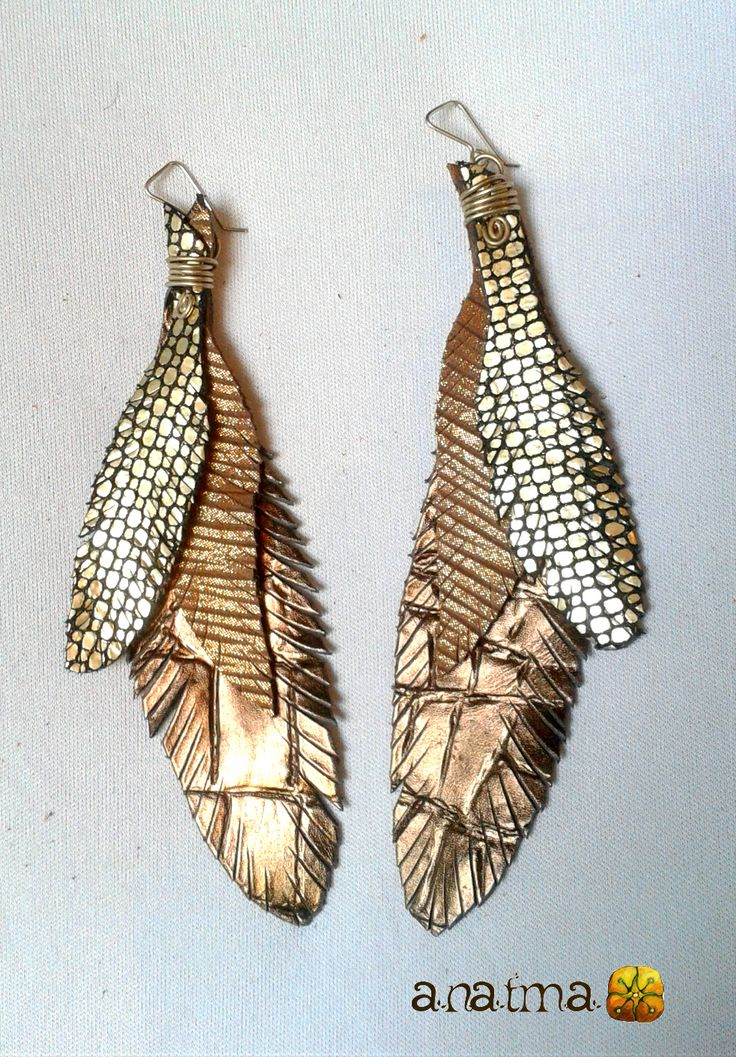 Leather Earrings variety of Colors. Handmade.  3 feather layers. size: LONG  every item is handmade and unique. If you would like to place a special order, with specific type of color or other, please contact me and I will be happy to try to make it come true!   thank you for appreciating and shopping handmade!