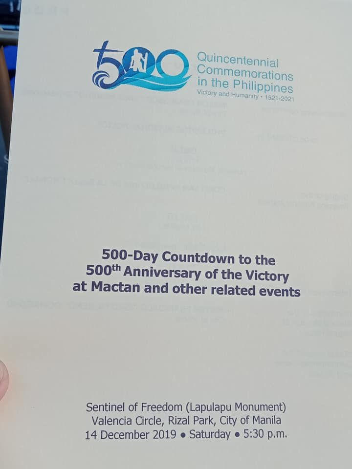500 Day Countdown To The 500th Anniversary Of The Victory Mactan Day Countdown Day Countdown