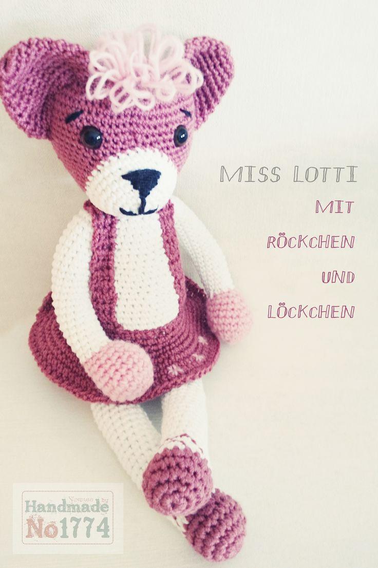 Kuscheltier - Teddy - Bär - Tanzen - Tanzbär - Kind - Baby - Crochet - Pink - gehäkelt - Mädchen - crochet stuffed animal - animal