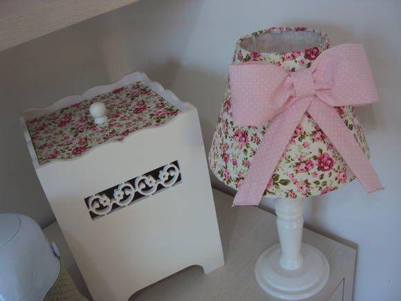 Lindo kit floral vintage!!!! Peças de mdf com alta qualidade na pintura e acabamentos, para deixar o quarto do seu baby ainda mais lindo e completo. Tecidos podem ser alterados.  Super oferta!!!  Produto exclusivo!!!!