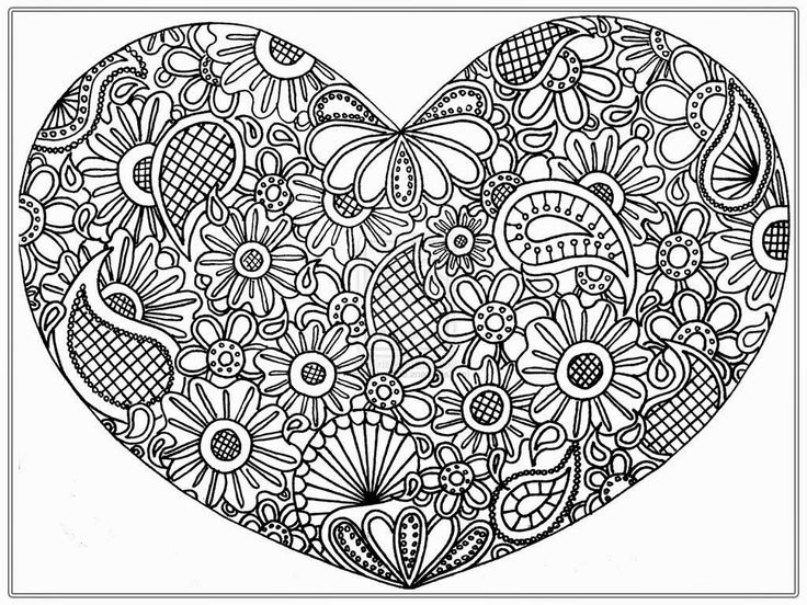 92 best Advanced Coloring Pages Hearts images on Pinterest