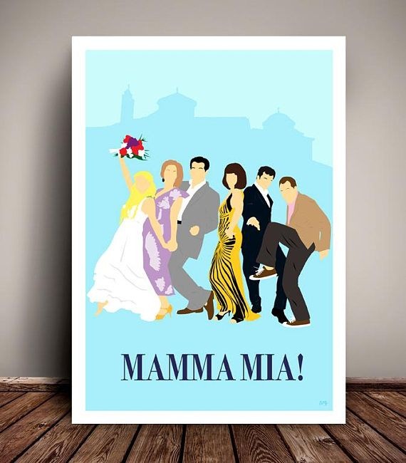 Mamma Mia // Minimalist Movie Poster // ABBA // Unique A4 /