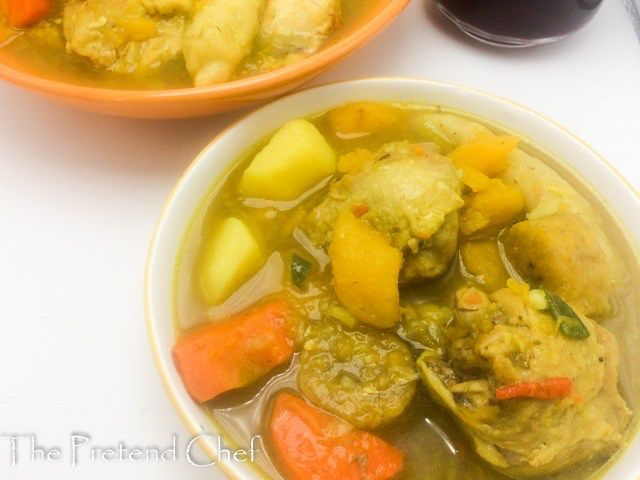 jamaican chicken soup with dumplings  the pretend chef  jamaican chicken soup caribbean