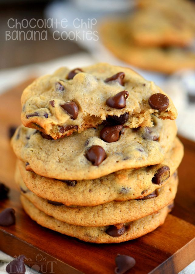 TheseEasy Chocolate Chip Banana Cookiesare sure to become a new favorite - so soft and delicious, they're impossible to resist!