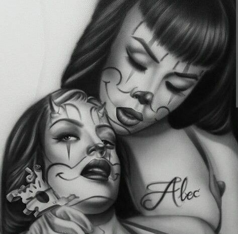 359 best chicana images on pinterest for Chicano clown girl tattoos