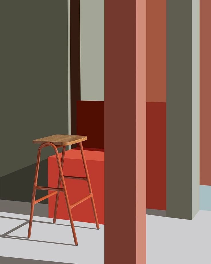 """Color blocking  Hurdle High Stool in new @grchair colours. Photography by @cricket_studio #doweljones"""""""