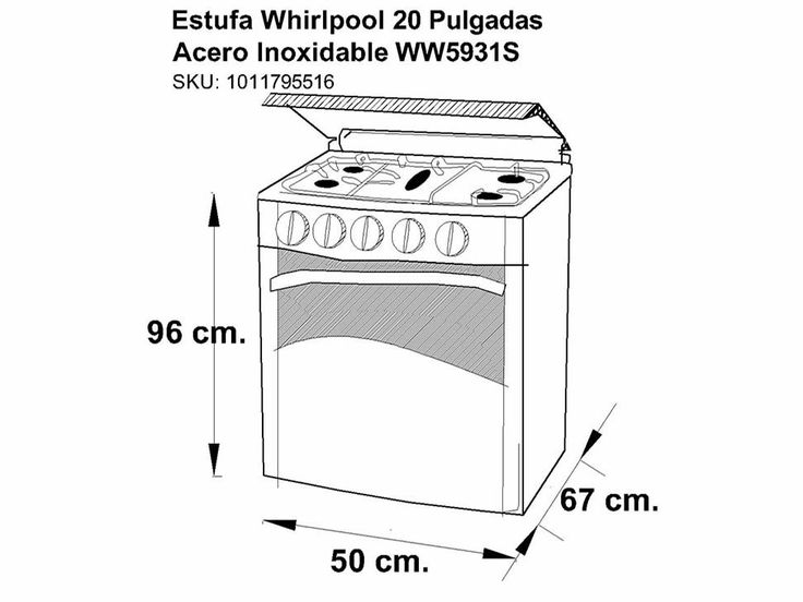 17 best images about hogar on pinterest industrial for Estufa whirlpool acero inoxidable