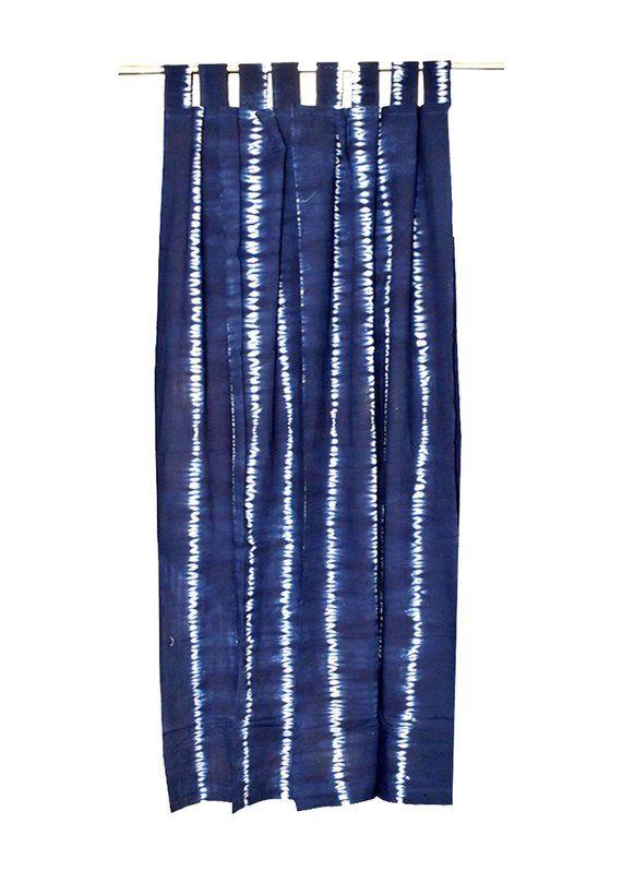 Bohemian Curtain Boho Decor Beach Curtains Blue And White