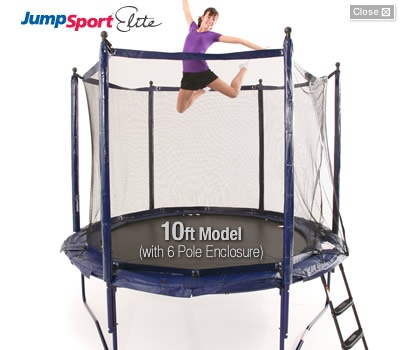 #JumpSport #Elite #StagedBounce is the only product line we offer with a 10ft trampoline-great for small backyards. Visit online for details here: http://www.jumpsport.com/trampolines.htm