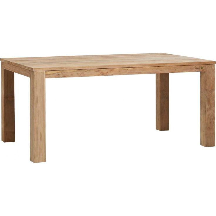 table teck recycl bross kok table personnes rectangulaire en teck recycl bross la main pour accentuer les rainures et le veinage du bois les pieds de - Pied Rectangulaire Pour Table