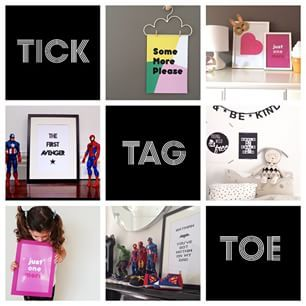 Here we go again! Let's play a game of tick, TAG, toe! To win a print of your choice from our range, simply tag two friends in the comments below! When I say STOP, the previous person who commented will win! Open to Australian and New Zealand residents only, and the winner must be a follower of @happyellaafter. Ready, set, go! #happyellaafterprints #kidswallprints #instacomp #instagiveaway