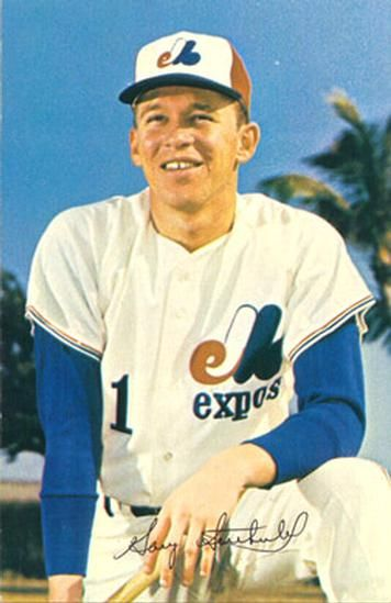1969 Montreal Expos Postcards #7 Gary Sutherland Front
