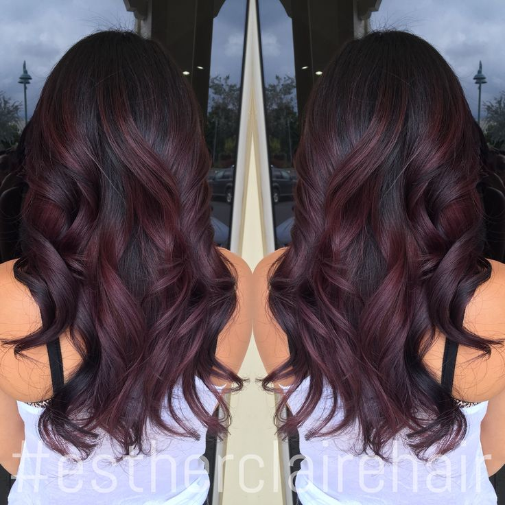 Fave. Burgundy color balayage. Need it lower tho and more at the bottom.