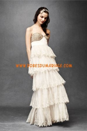 BHLDN Robe de Mariée Style Burnesthed Organza Gown