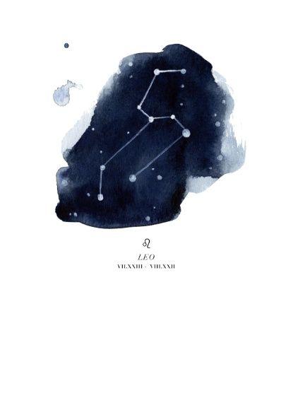 Zodiac Constellation - Leo Art Print