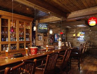 9 best pub themed dining room images on pinterest home bars denver residence rustic basement denver by residential systems inc malvernweather Choice Image