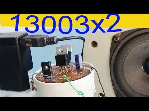 How to make a simple audio amplifier, use 3 transistors