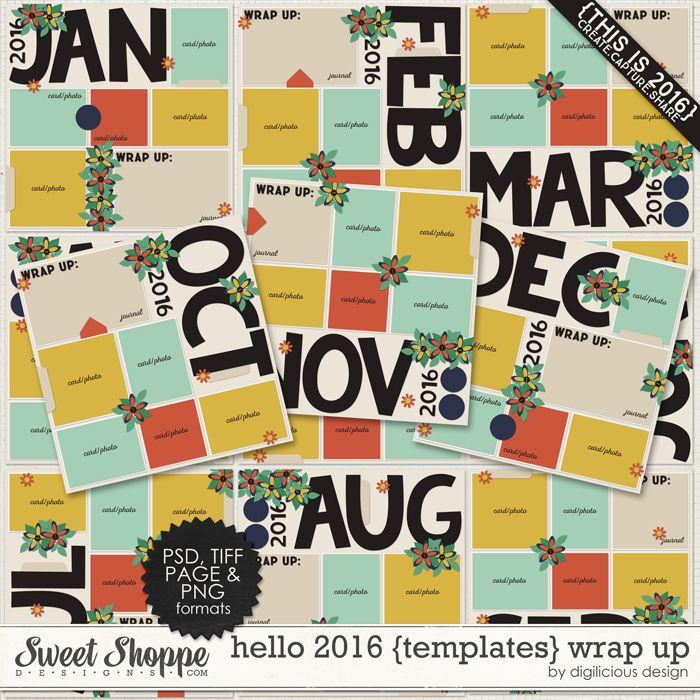Hello 2016 {Templates} Wrap Up by Digilicious Design