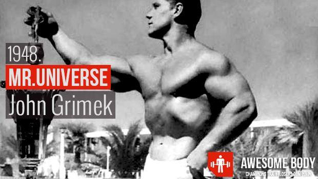 Mr Universe 1948 | John Grimek Winner Mr. Universe Short ...