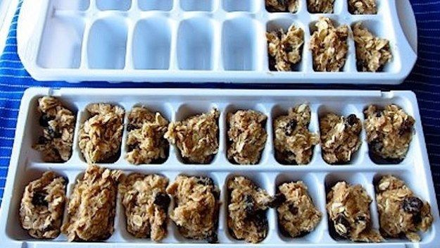 Freeze cookie dough in ice cube trays for perfectly portioned ready-to-bake snacks. | 46 Life-Changing Baking Hacks Everyone Needs To Know