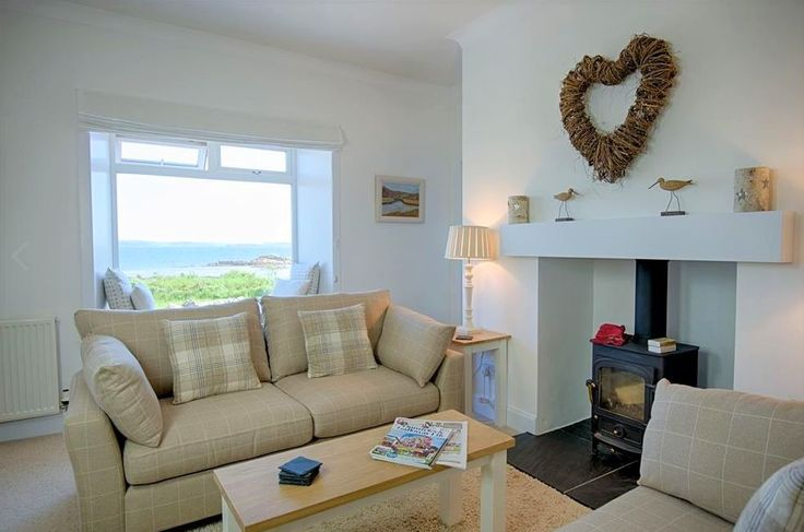 Meadow Cottage, a semi-detached property is situated in a peaceful location right at the end of a road  of cottages at Mossyard, near Gatehouse of Fleet, South-west Scotland.  It has an enclosed garden which enjoys uninterrupted views across meadow and up Fleet Bay.