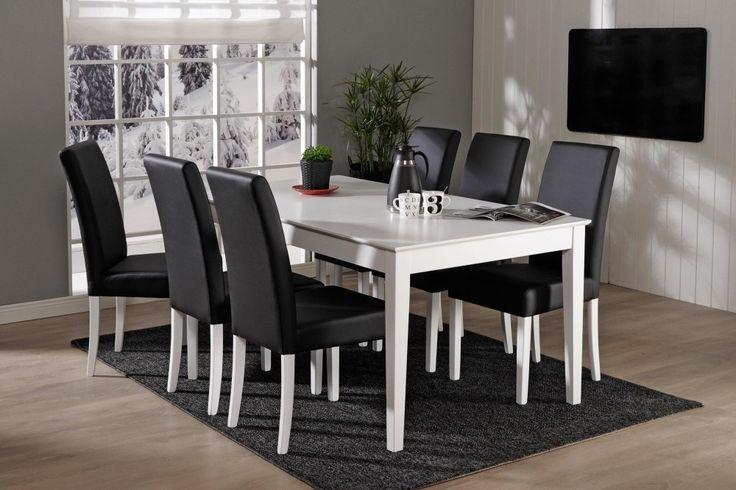 IIRIS-ruokailuryhmä (pöytä 170x90cm+6 verhoiltua tuolia)