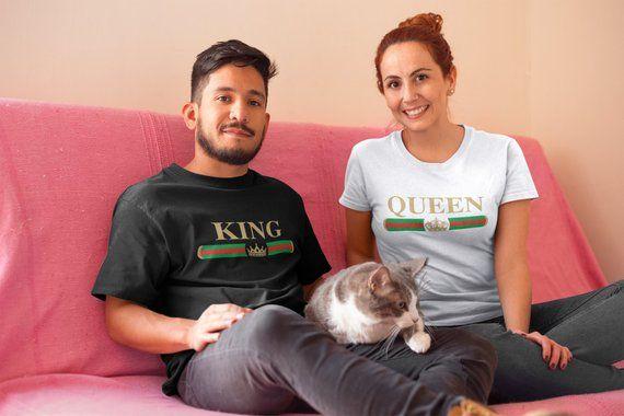 e7c16087a3 Matching Couples gift, Summer Shirts, King Queen Tees, Couples Tshirts,  Family Matching couples Tees, Couples vacation Clothing   Boho fashion  Clothes ...