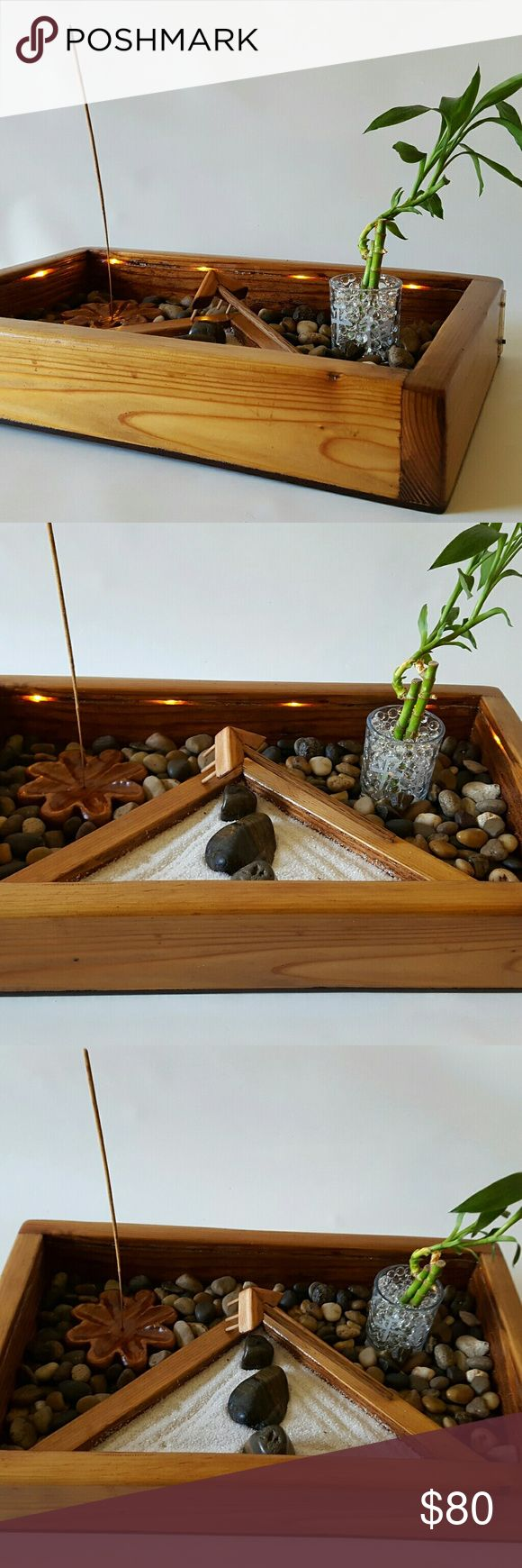What do the colors of ribbon symbolize on lucky bamboo ehow - Light Up Zen Garden This Handcrafted Meditation Garden Includes 1 Cedar Wood Base 2 Lucky Bamboo Stalks Incense Holder Unique Handcrafted Cedar And Oak