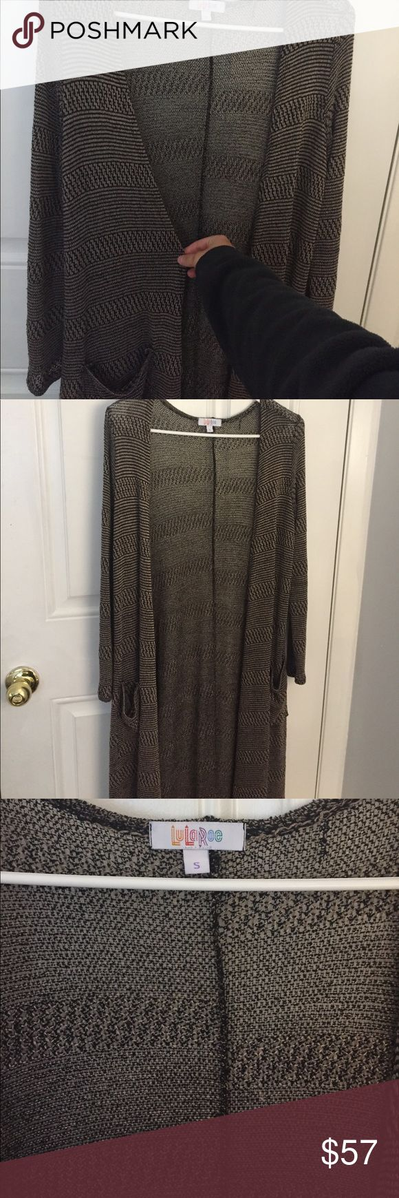 LulaRoe Sarah Cardigan Tan and black brand new Sarah cardigan. Size small LuLaRoe Sweaters Cardigans