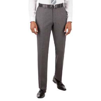 BEN SHERMAN Grey jaspe check slim fit kings suit trouser | Debenhams