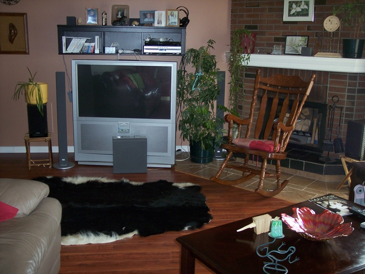 The new living room look.  Tile and laminate by Ivo of Julia's Alpine Gardens. Paint by me, Dorothy Clark.