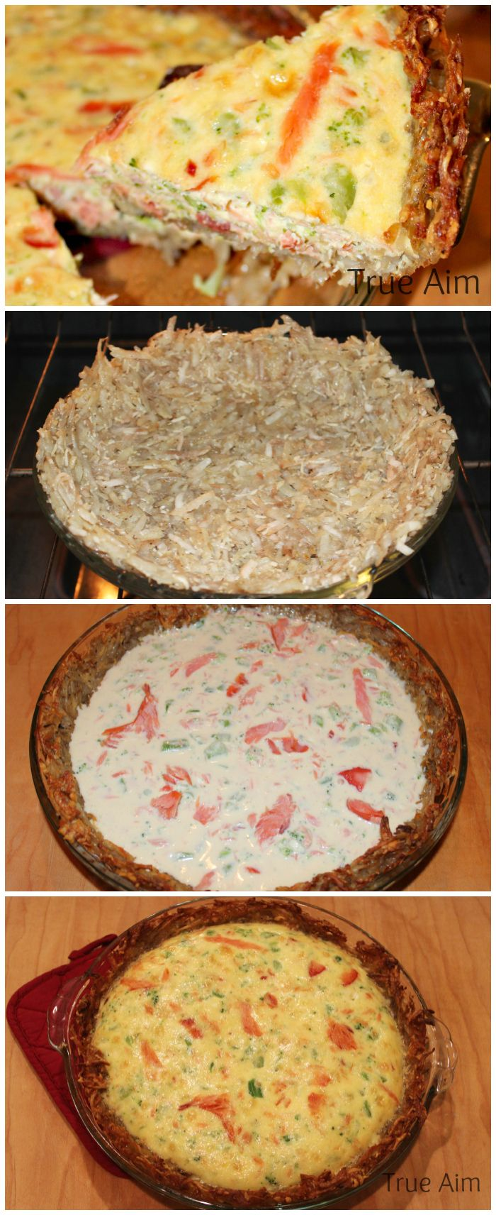 Homemade Smoked Salmon Quiche with a Crispy Potato Crust - AMAZING! I could eat the whole thing myself.
