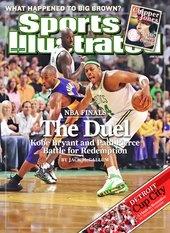 2008 NBA Finals Kobe Bryant LA Lakers, June 16, 2008 Sports Illustrated Covers - www.sicovers.com