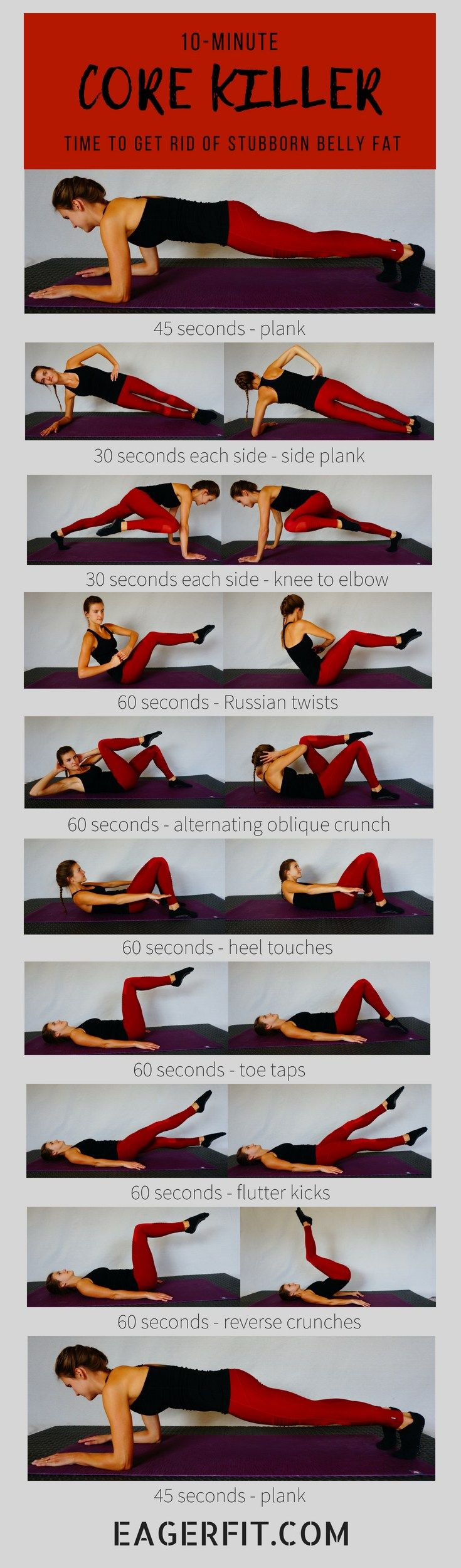 10-Minute Core Workout to Help You Lose Belly Fat
