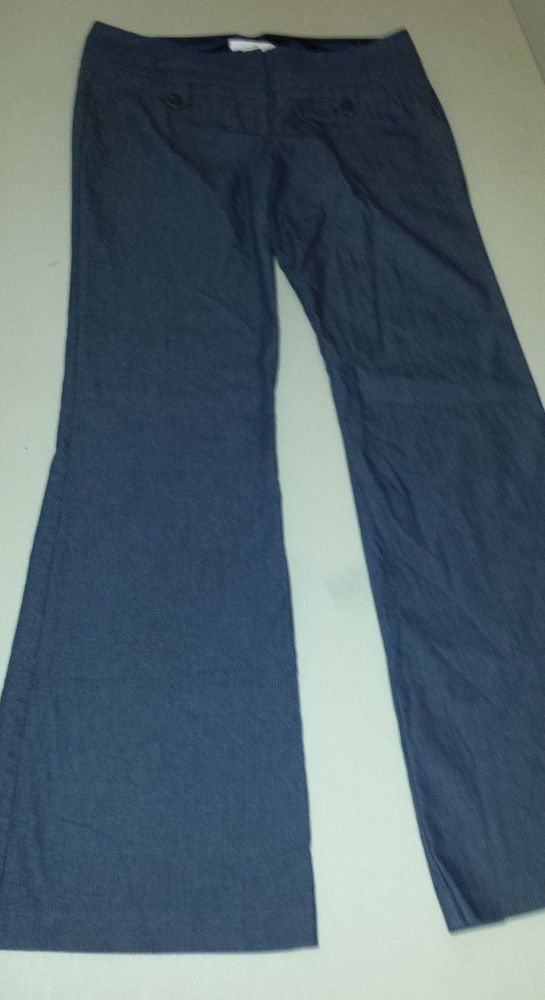 Charlotte Russe Career Pants Navy Blue Pin Striped Stretch Womens Juniors Sz 9 #CharlotteRusse #KhakisChinos http://stores.ebay.com/Castys-Collectibles?_dmd=2&_nkw=charlotte+russe