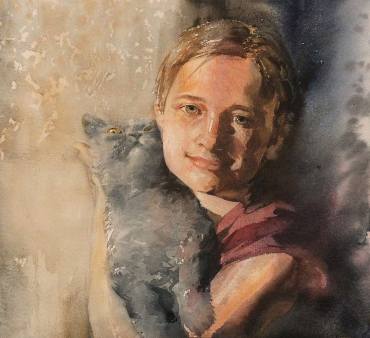portrait painting in watercolor with constantin sterkhov