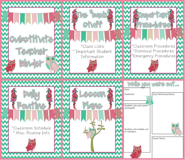 New Substitute Binder Themes!