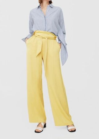 Flowy palazzo trousers -  Women | MANGO USA