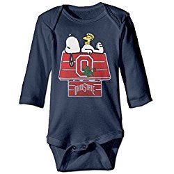 ALEXBY Boy's & Girl's Ohio OSU State University Long Sleeve Bodysuit Outfits