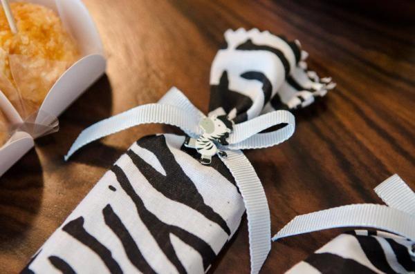 Zebra Stripe Favor Bag