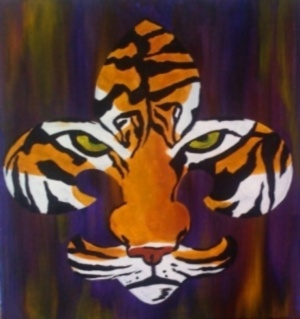 Tiger Fleur De Lis Painting: Canvas Paintings, Art, Lsu Tigers, Pinot S Palette, Gtown S Paintings, Fleur De Lis Painting, Geaux Tigers