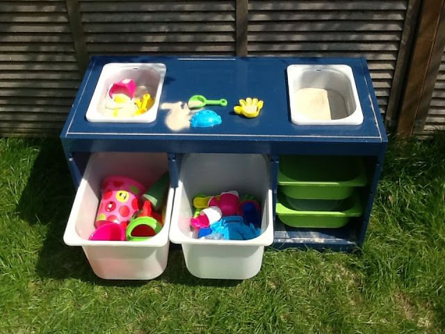 Oh, I think I LOVE this. Trofast sand and water table - IKEA Hackers