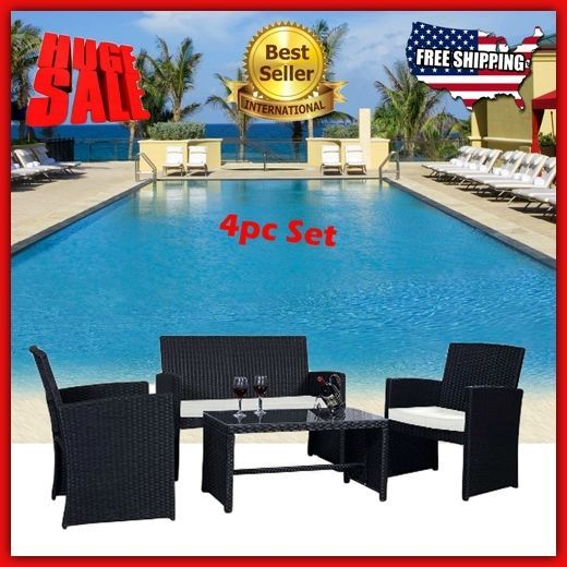 Patio Furniture Sets Clearance Sale Wicker Outdoor Bistro Cushions Modern Rattan