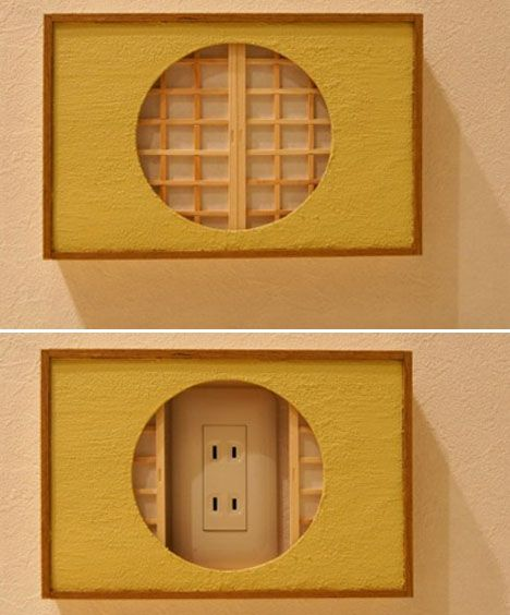 Mini Doors and Shoji Screens Hide Ugly Power Outlets
