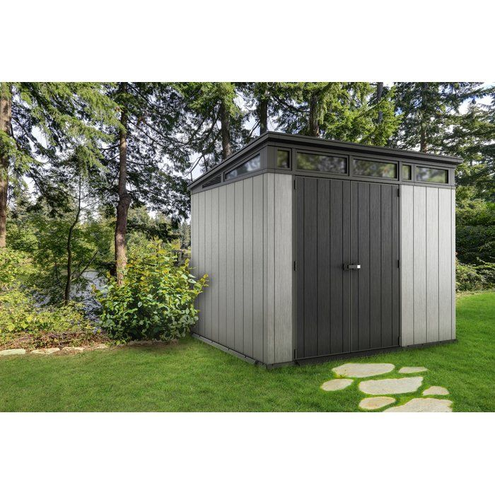 Artisan 9 Ft W X 7 5 Ft D Plastic Storage Shed Plastic Storage Sheds Shed Storage Shed
