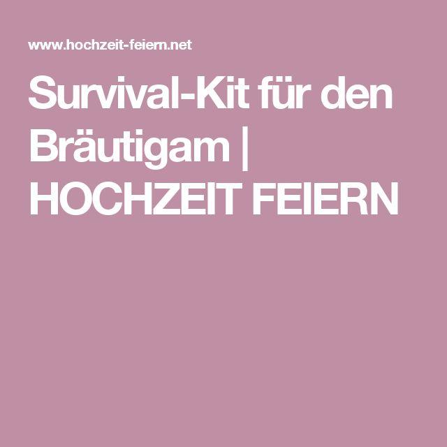 Survival-Kit für den Bräutigam | HOCHZEIT FEIERN