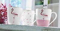 """Design-Kaffeebecher aus Porzellan """"Flamingo"""""""